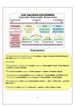 Spanish support work level A1