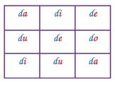 Spanish syllable Bingo D