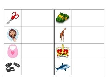 Spanish syllable blending center - Leyendo palabras con 3 silabas