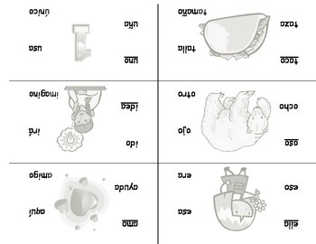 Spanish syllable cards- Tarjetas de las sílabas en español (silabas)