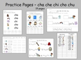 Spanish syllables Practice Pages ba be bi bo bu and cha ch