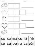 Spanish syllables cut and paste / Sílabas de español para