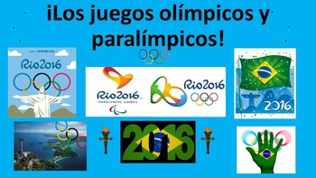 Spanish teaching resources. Olympic  Paralympic Games. Jue