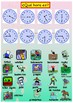 Spanish telling the time and activities, la hora booklet for beginners