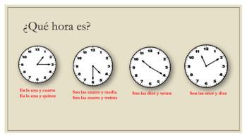 Spanish telling time bundle