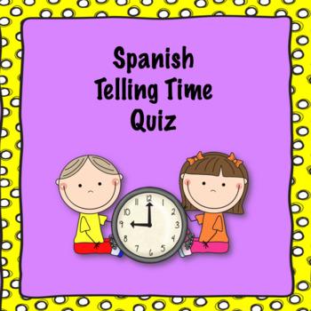 Spanish telling time quiz