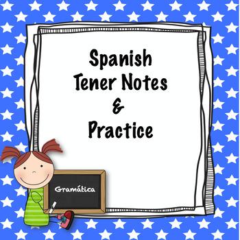 Spanish tener practice worksheet