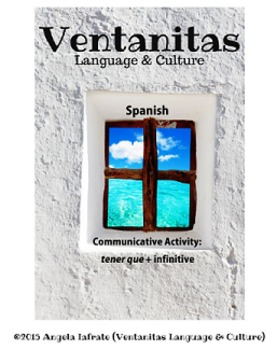 """Spanish """"tener que + infinitive"""" speaking activity"""