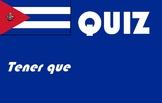 Spanish español tener que quiz or worksheet reteach recovery