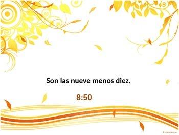 Spanish time Review/Repaso de la hora