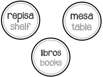*SAMPLE* Spanish Classroom Labels (2015 version)