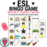 Spanish to English Cognates Bingo - ESL ELL EFL