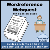 Wordreference Spanish to English Dictionary Webquest