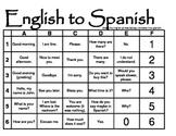Spanish to English Grid Games