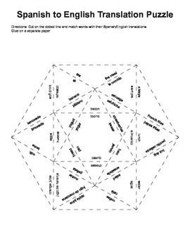 Spanish to English Puzzles - Español