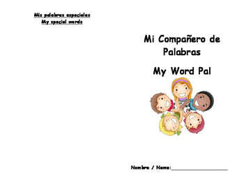 """Spanish to English Word Pal Spelling """"Dictionary"""" Bilingual words"""