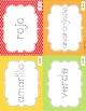 Spanish tracing words, colores, días de la semana, meses del año, y números