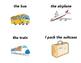 Spanish travel, transportation, and destination flash cards