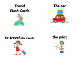 Spanish travel, transportation, and destination flash cards