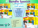 Spanish Unit plans bundle (5 complete Unit plans) for beginners