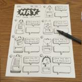 Spanish verb Haber Hay ~No prep printable Spanish verb practice ~school supplies