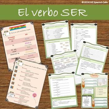 Spanish Verb Ser El Verbo Ser By All Spanish Cafe Tpt