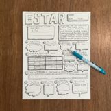 Spanish verb estar ~worksheet ~verb conjugation ~translation ~to be ~NO PREP