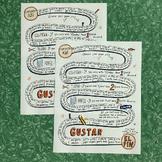 Spanish verb gustar gameboard ~Spanish verb practice ~Me g