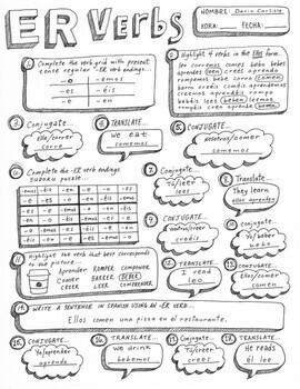 spanish verb practice ar er ir verbs ser estar tener conjugation worksheets. Black Bedroom Furniture Sets. Home Design Ideas