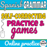 Spanish verbs grammar games and practice that auto-grade