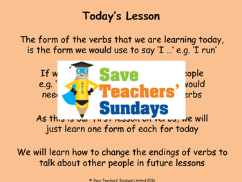 Spanish verbs (sports) Lesson plan, PowerPoint (with audio) and More ...