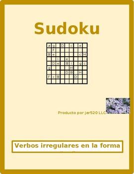 Spanish verbs with irregular yo forms Sudoku