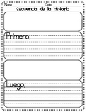 Spanish version - Story Sequence Graphic Organizer - First