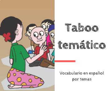 Spanish vocabulary: Taboo temático