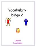 Spanish vocabulary bingo 2