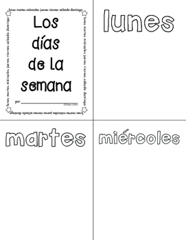 Spanish vocabulary booklets/Más libritos de vocabulario