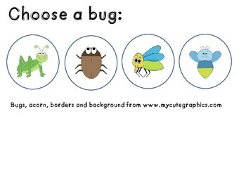 Spanish vocabulary game - Bug in a rug - Fall - el vocabulario otoño