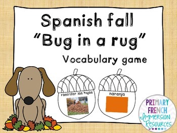 Spanish vocabulary game - Bug in a rug - Fall - el vocabul