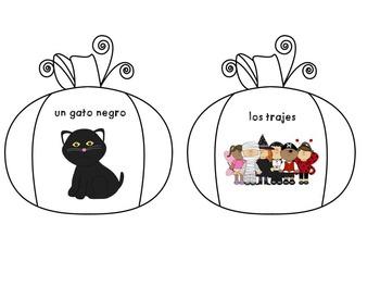 Spanish vocabulary game - Bug in a rug - Halloween - Los juegos