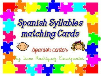 Spanish Syllables Matching Cards