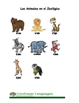 Spanish vocabulary reproducible handouts (color)