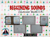 Spanish vowels + m {Beggining sound recognition} PRESCHOOL AND SPECIAL ED