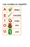 Spanish vowels chart+worksheet.Cartel del abecedario en es