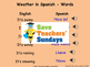 Spanish weather and Seasons Unit (6 lessons) - All lessons have AUDIO clips