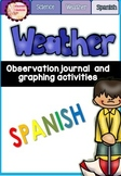 Weather Graph and Observation Journal in Spanish// EL TIEMPO
