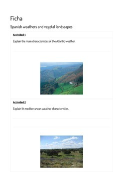 Spanish weathers and vegetal landscapes