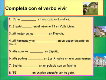 Spanish where do you live?Donde vives? PPT for beginners