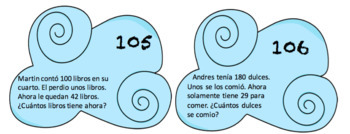 Spanish word problems for the entire year (2.4C/2.4D and 2.OA.A.1)