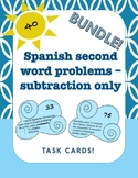 Spanish word problems - subtraction only (2.4C/2.4D and 2.OA.A.1)
