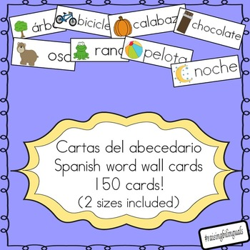 Spanish word wall cards (cartas de palabras del abecedario)